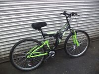 Almost Brand New Integra Shox Dual Suspension Mountain Bike With 18 Speed (1 Month Old)