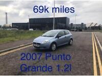 69k miles! £1195 2007 Fiat Punto 1.2l* like fiesta clio yaris micra corsa c1 aygo 107 getz polo,