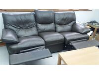 leather 3 Seater and Armchair - recliners