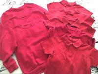 3-4yrs and 4-5yrs red school uniform