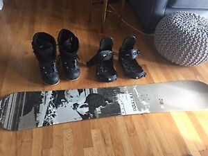 Fifty150 Snowboard, boots and Burton bindings
