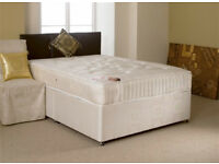 Free Delivery! EXCLUSIVE SALE! Brand New Looking! Double (Single + King Size) Bed & Medium Mattress