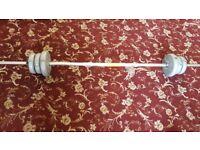 Metal bar weight exerciser.