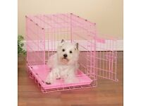 pink puppy dog cage for sale
