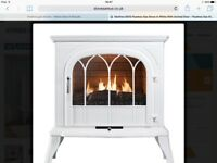 White Gas flueless fire NEW