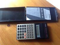 Pocket Casio (Scientific Calculator Model FX-82c.. case & instruction booklet.replaced batteries.