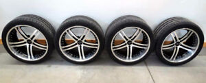 08-18 CHALLENGER FORGELINE 9.5-10.5 WHEELS & 275-295 PSS TIRES