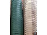 Artificial rattan weave effect screening in sand or green
