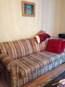 Couch and Blankets, $75