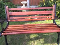 Garden bench and table handmade from new timber