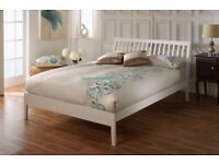 White Wooden Bed with Mattress, was in Guest-room & rarely used