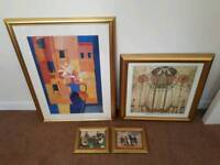 Picture frames with prints