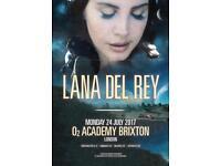 2x Lana Del Rey tickets, O2 Brixton Academy London, Monday 24th July 2017