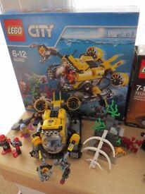 Lego 60092 Lego City Deep Sea Submarine with instuctions