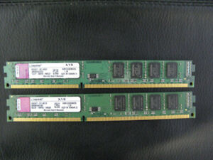 Kingston 4G (2 x 2G) DDR3 1333 PC3-10600 Desktop Ram