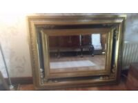 For Sale Beautiful Large Ornate Black and Gold Mirror