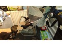 Pushchair and matching car seat
