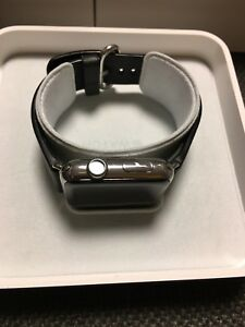 iwatch stainless steel with leather band (series 1)