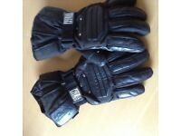 Leather bike gloves