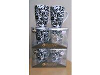 6 Porcelain Mugs