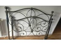 Metal framed double bed with all parts