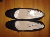 CABIN CREW BLACK LEATHER SHOES