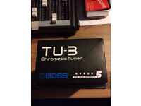 Boss TU3 Chromatic Tuner Boxed Good Cond.