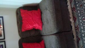 3-BAR STOOLS;IKEA COFFEE TABLE;2-SLIPPER CHAIRS; LTHR CAMERA BAG