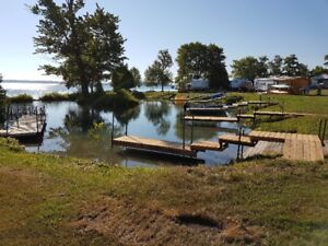 Waterfront Seasonal Trailer Sites on Manitoulin Island