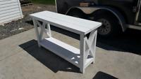 Custom barnboard walls and furniture