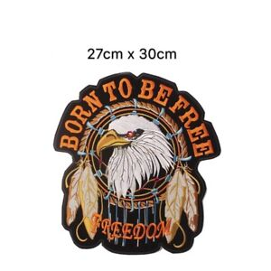 Brand new large motorcycle patches iron sew on eagle