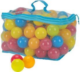 Ball pit Balls, Playballs, Plastic Balls - Multicoloured - Approx 100 per bag