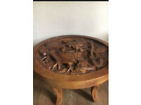 Carved decorative wooden table