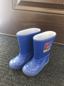 Spider man rain boots / rubber boots size 8