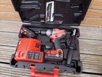 Milwaukee Fuel BRUSHLESS 18v Li-ion Combi drill, 2x2ah batts, charger,case,BRAND NEW.