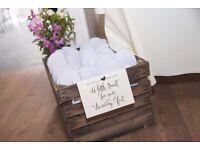 11 x Pairs - Wedding Guest/Hen Party Flip Flops - White