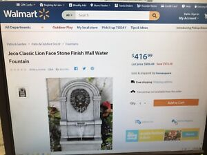 Jeco lions head water fountain for sale