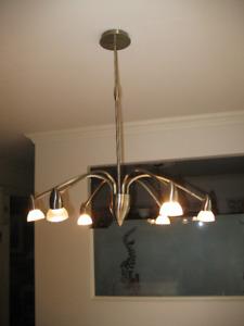 3 luminaires laiton antique