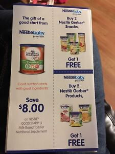 X2 nestle coupons