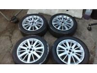 fiat grande punto 16 inch alloy wheels lightly refurbed with good tyres