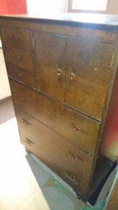 Antique Gentleman's Tall Dresser and Ladies Dressing Table