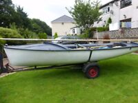 15 ft Sailing Boat with trailer and Launching Trolley