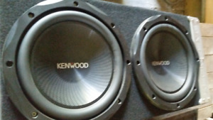 "2  Kenwood shallow-mount 12"" 4-ohm subwoofers"