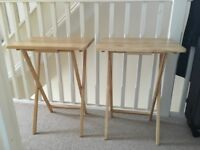 Fold Up Side Tables x2