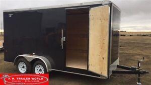2017 Royal Cargo 7x14 LT   Cargo   Barn Door   Black