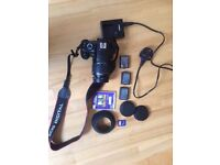 Digital SLR Camera (DSLR) - Canon EOS 1100D with zoom lens and extras