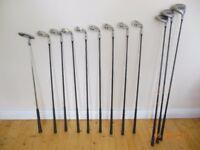 Golf clubs. full matching set of Jack Nicklaus golden bear clubs