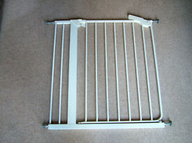 White Stair Gate with extension