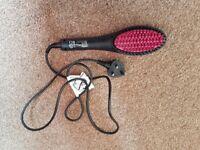 Hair straighting brush
