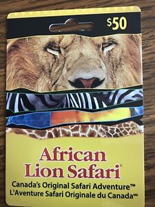 African Lion Safari gift card